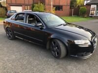 Audi A4 S Line 2.0 TDI 140 Black, 2008 57 Plate, fully loaded and only 74k miles