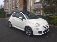 Fiat 500 convertible 63 plate low mileage