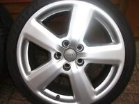 """4x18"""" Original Audi RS6 alloys whels with almost brand new tires"""