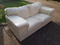 Free - White leather sofa