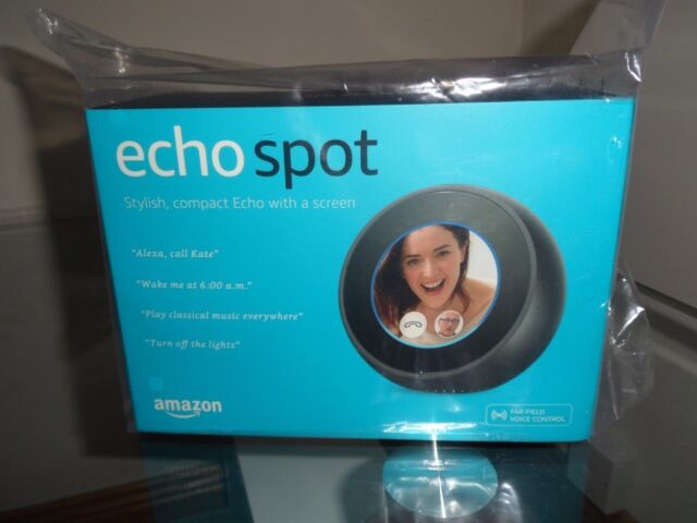 ALEXA ECHO SPOT SMART SPEAKER AND SCREEN  BLACK  BRAND NEW  | in Cupar,  Fife | Gumtree
