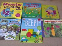 Children's Book Bundle Monster Pop up Counting Jess the Cat Lift the Flap + new activity book + more