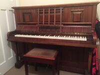 Upright Piano with Stool. Free ! You just need to arrange collection