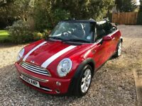 2005 Red Mini Convertible - Owned by one family, 1 year MOT, well looked after