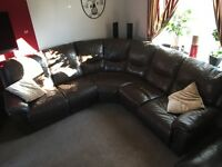 Leather sofa 8seater, corner, dfs Rrp £3 500