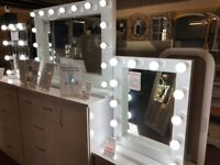 New illuminated Hollywood mirrors with Super bright 9w LED bulbs from £149-£349 in stock now
