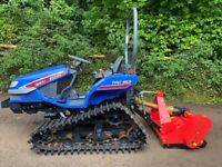 ISEKI TPC153 Track Compact Tractor & New Flail Mower *** MINT CONDITION *** ONLY 311 hours *** Nice