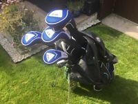 Ben Sayer golf clubs with bag