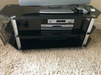 3 Tier Black Gloss TV stand For Sale - Very good condition and hardly used.