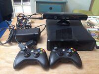 xbox 360 with kinect sensor and 20 games
