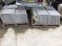 Light grey 450 x450 paving slabs