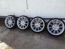 BMW MV4 genuine 19 alloys with tyres E92, E93