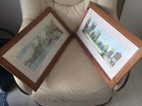 """2 x Beth altabas paintings ( approx 22"""" x 11 """") with frames"""