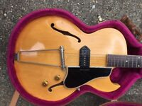 1956 Gibson ES225TN Rare Natural Finish 1 of Only 71 made that year.
