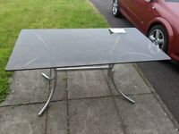 Habitat (1970s/80s) Smoked Glass/Chrome Dining Table