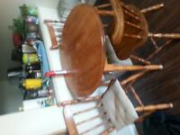 rocking chair and table set $40