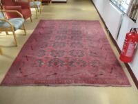 Large Oriental Style Rug / 82 inch wide - 112 inch long approx. Excellent condition.