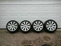 "A set of 20"" Range Rover sport alloy wheels"