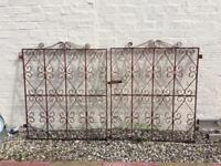 Pair of Old wrought iron gates