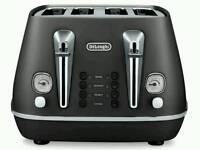 Delonghi CTI4003 Distinta 4 Slice Toaster In Black BRAND NEW WITHOUT BOX