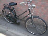 Vintage 1950s Raleigh All Steel Ladies Bike