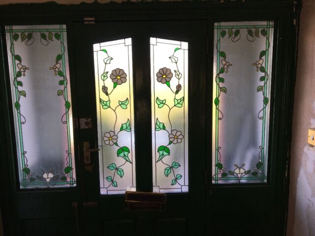 Stained Gl Front Door And Frame