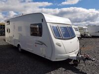 2010 LUNAR QUASAR 546 - 6 berth, triple bunk, family caravan with full size awning and motor movers