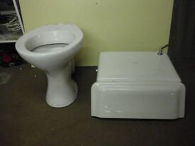 VINTAGE TOILET AND CYSTERN