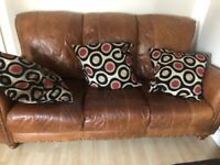 Leather sofa 3 seater & 1 seater