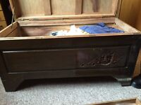 Vintage Chinese Carved Camphor Wood Chest now reduced to £65