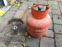 Propane CALOR gas bottle and burner / stove