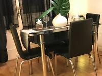 Dining table plus x4 Chairs (LIKE NEW)