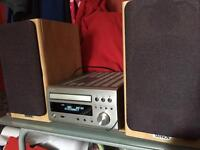 Tannoy Mercury F1 Custom Limited edition and Denon Micro Hifi RCD M47DAB Amp