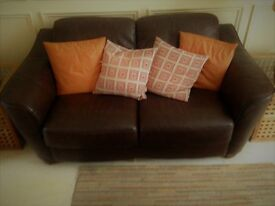 Brown two setter leather sofa In great condition