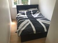 IKEA MALM Standard Black Double Bed with mattress