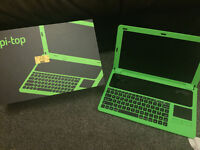 RASPBERRY Pi-TOP laptop computer / Pi-3 / Pi-2 with RETROPIE 64 & 16GB SD cards