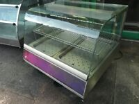 HOT FOOD HEATED CABINET DISPLAY CATERING COMMERCIAL CAFE KEBAB CHICKEN TAKE AWAY PIZZA FISH SHOP