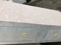 Single divan bed and mattress