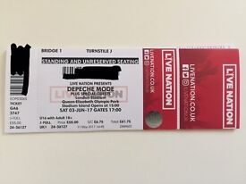Depeche Mode ticket - Global Spirit Tour -3rd June - QEOP Stadium Stratford London