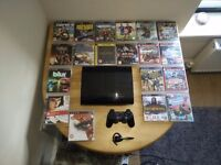 Sony PS3 slim console - 320 GB - 19 GAMES