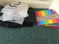 Shoe boxes and document holders