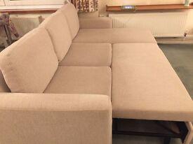 John Lewis Sacha Large Sofa Bed, Aquaclean Wilton Fabric, Putty, Price Band B Putty Band B