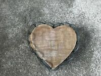 Heart shaped wooden coaster with rack