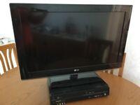 LG 32inc LCD Tv & Panasonic DVD & Video Recorder