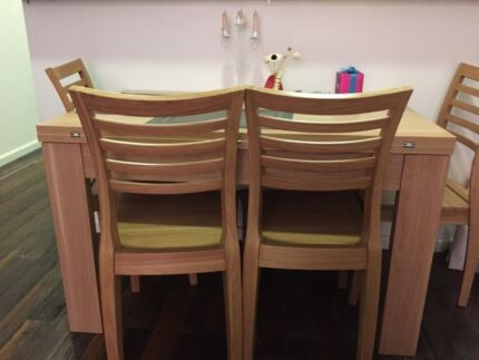 Quick sale quality extendable dining tables + 4 chairs Pyrmont Inner Sydney Preview