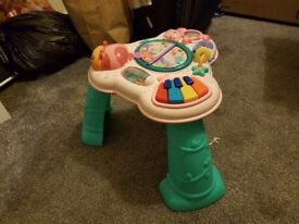 Bright starts activity music table