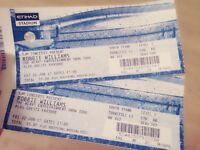2x Robbie Williams tickets for sale for Friday 2nd June