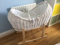 Claire de Lune Noah Pod Moses Basket-As New