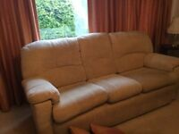 Settee and Chair Cream