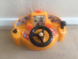 My first jcb driver steering wheel